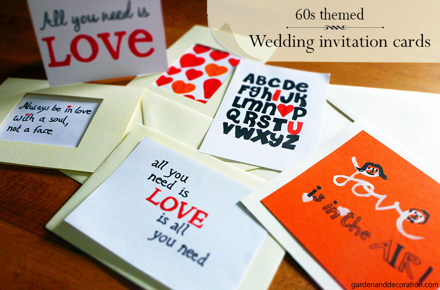 60s themed invitation cards