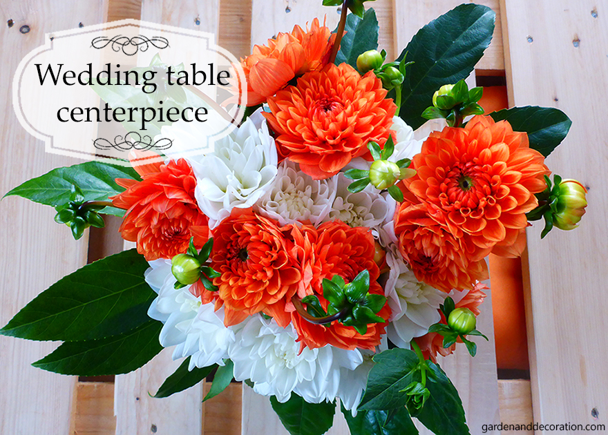 60´s wedding table centerpiece