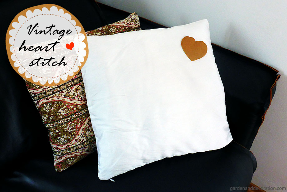 heart stitched pillowcase
