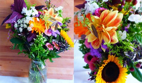 Last summer flower bouquet for this year