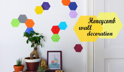 Colorful honeycomb wall decoration idea