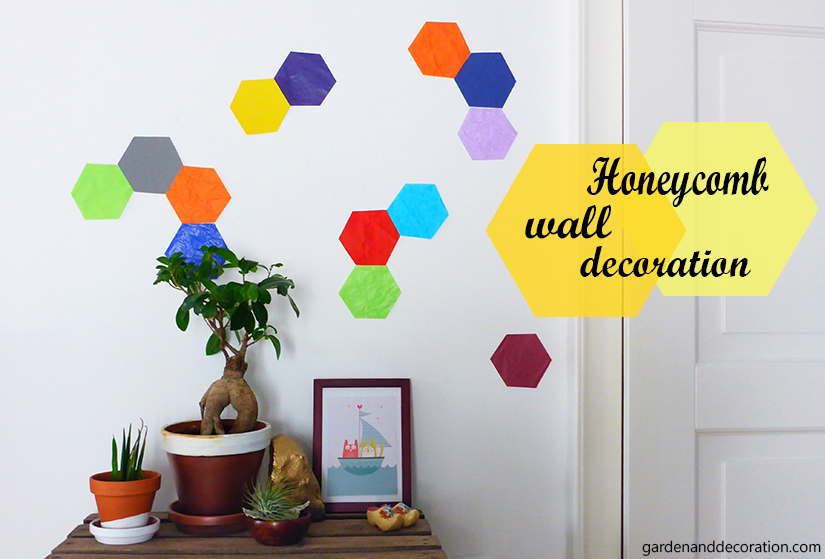 Colorful geometric wall decoration