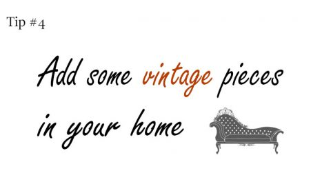Interior design tip #4: Use vintage pieces