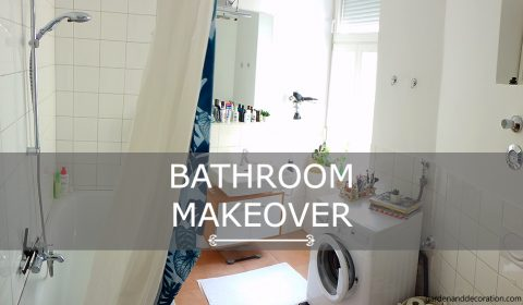 Small bathroom makeover with storage solutions