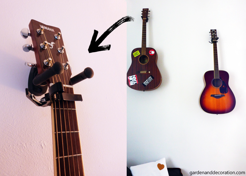Interesting wall decoration idea for guitar players | Garden ...