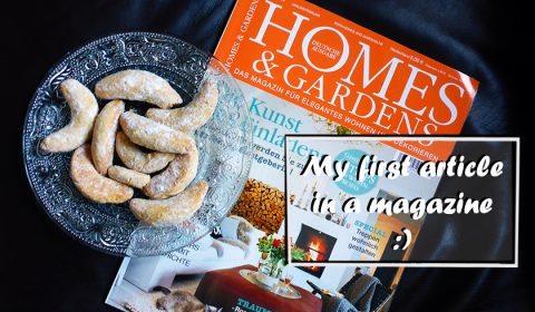 My article in the German Homes & Gardens magazine