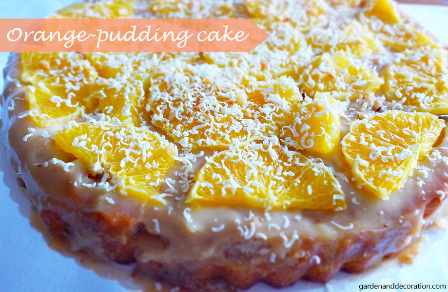 60s party food ideas: orange-pudding cake