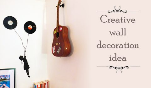 Simple and creative wall decoration idea