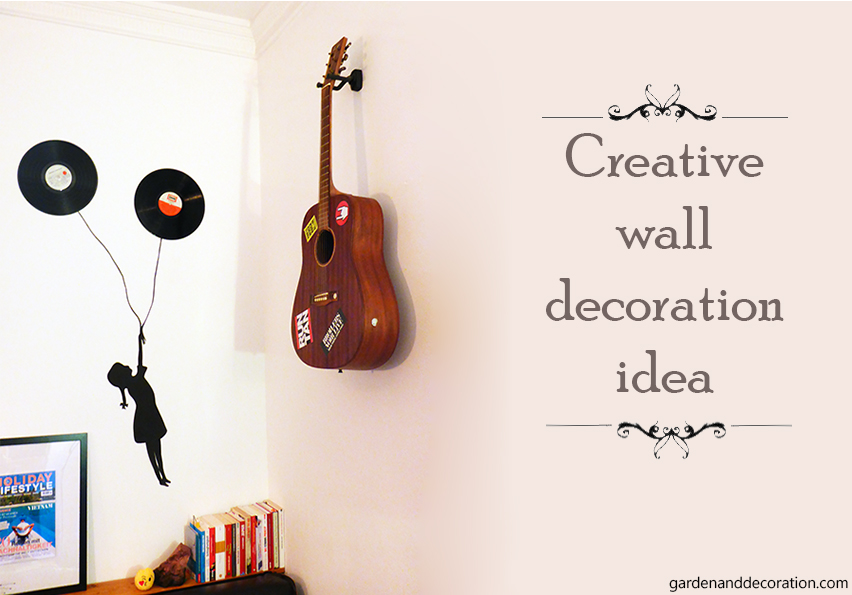 Creative wall decoration idea