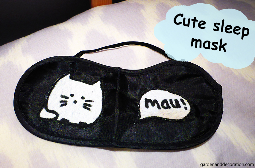 Sleep mask makeover idea