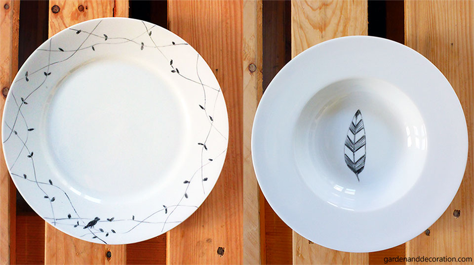 painted tableware