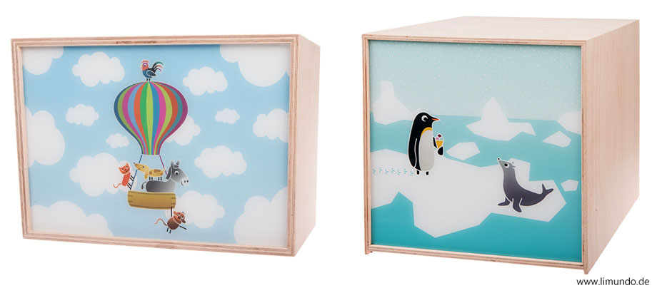 Two lightboxes from Limundo