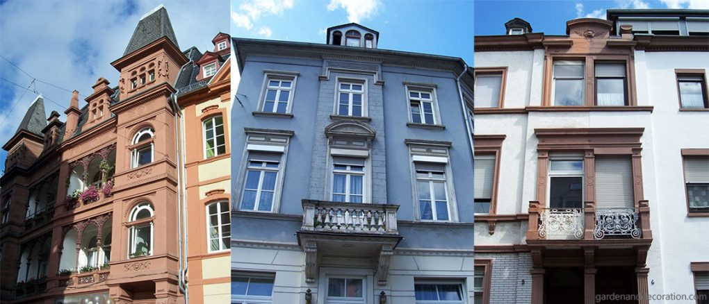 Balconies in the city of Trier