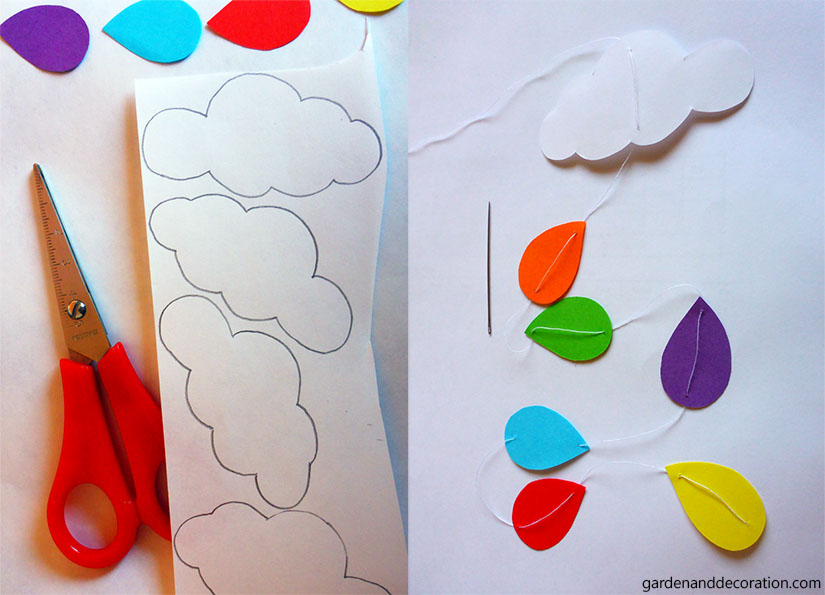 DIY raindrop mobile_how to make