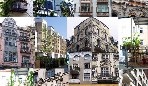 Various and exceptional balconies in Germany