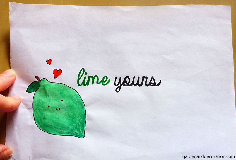 DIY card_Lime yours card