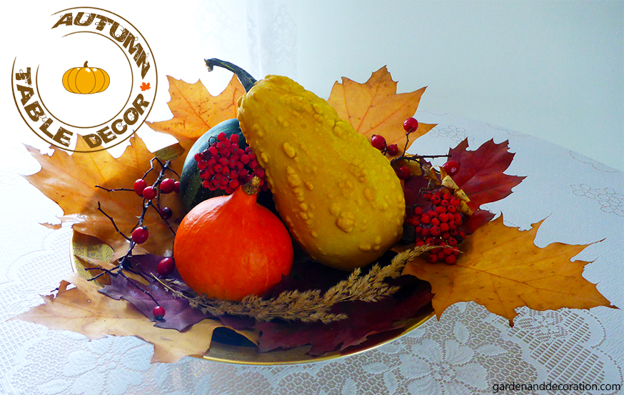 autumn table decoration idea
