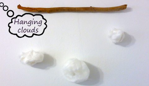 Cute DIY idea: hanging clouds mobile