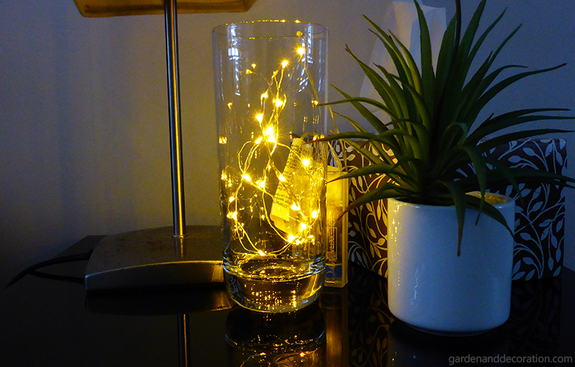 Fairy lights ideas for your home_Lights in a glass