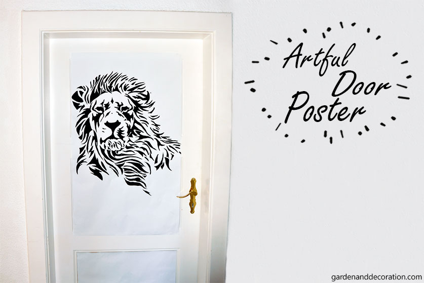 DIY: Artful door poster