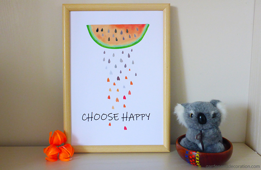 Framed choose happy picture