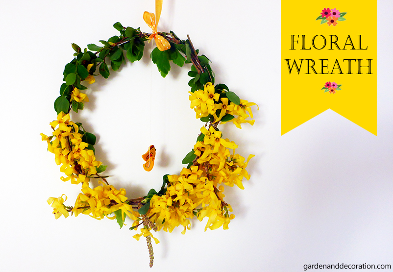 DIY for Easter: floral wreath