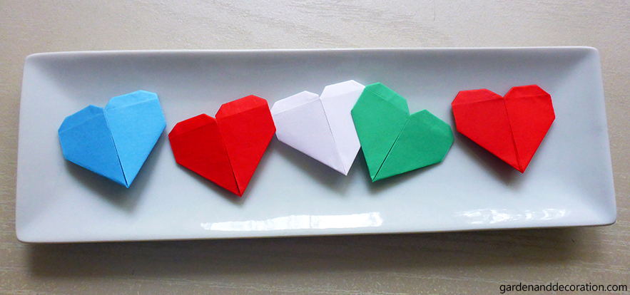 Paper hearts in a bowl