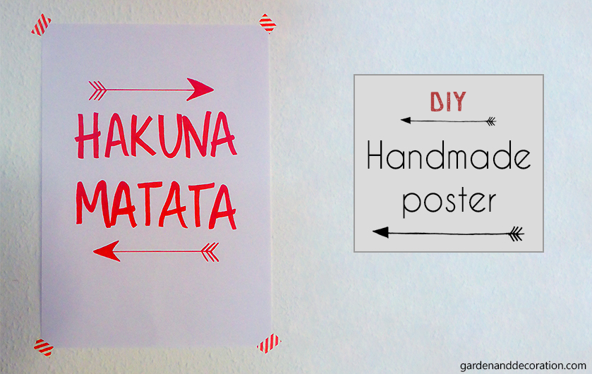 Handmade poster with quote Hakuna Matata