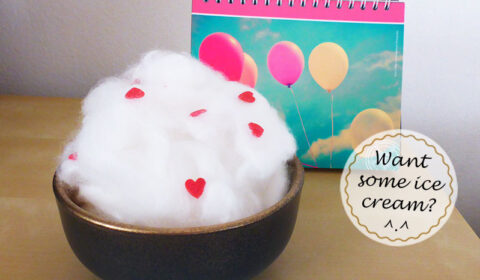 DIY: Funny cotton wool decor idea