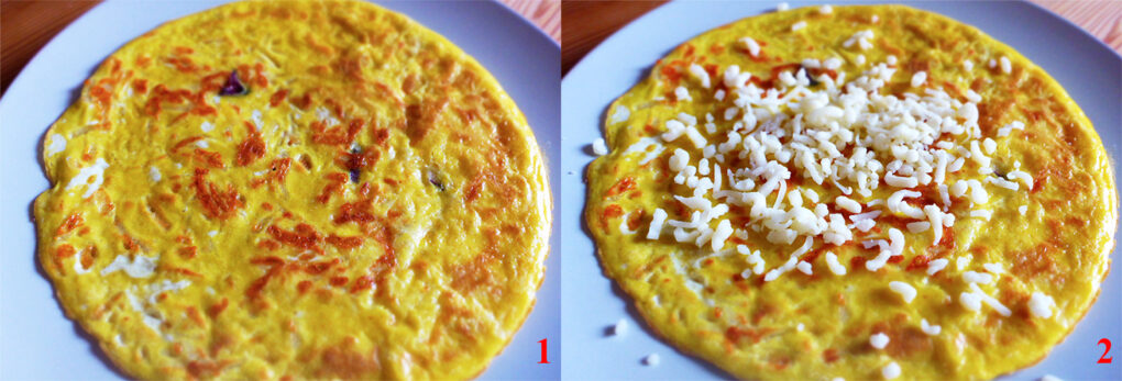 How to fill the sandwich omelette?