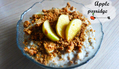 Yummy breakfast idea: apple porridge