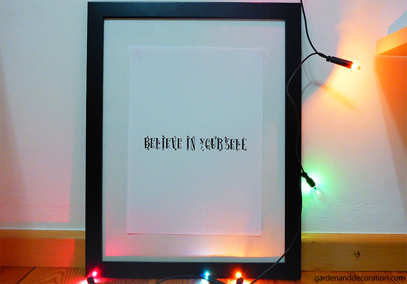 Believe in yourself_with christmas lights