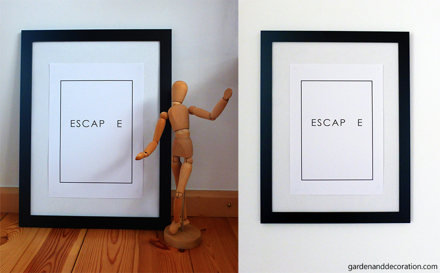 Escap e picture in black frame