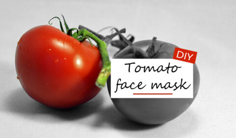 Homemade tomato mask for blemished skin