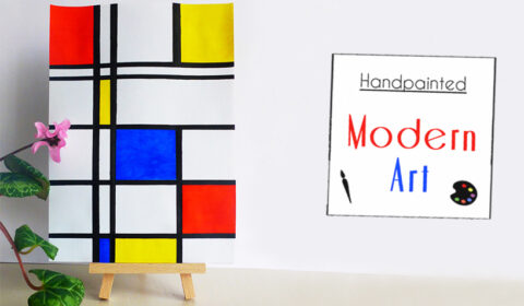 DIY: Simple modern art hand painting
