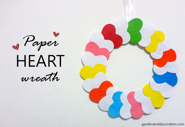 DIY_paper heart wreath