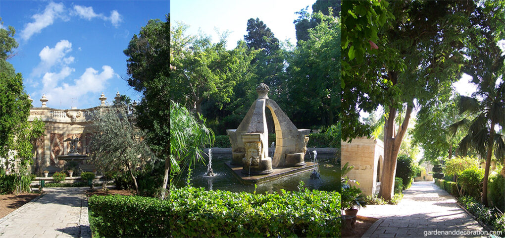 Fountain in the San Anton Gardens on Malta