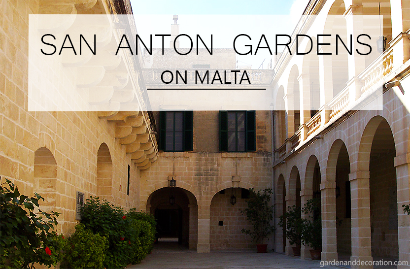 Palace of San Anton Gardens on Malta