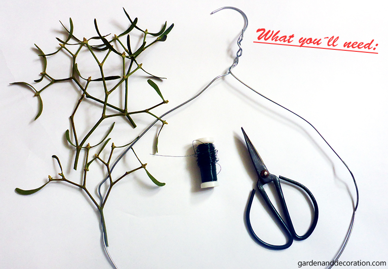 Mistletoe wreath_what you´ll need