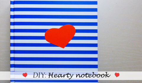 DIY: Hearty notebook makeover