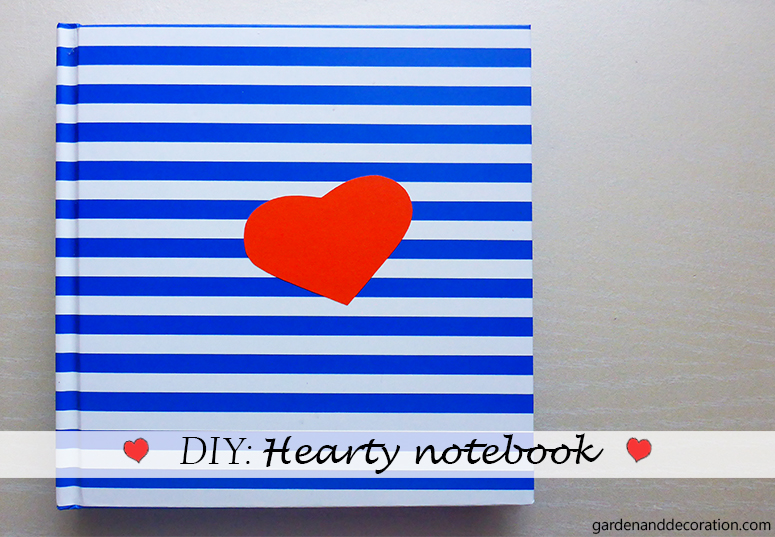 DIY hearty notebook_gardenanddecoration.com