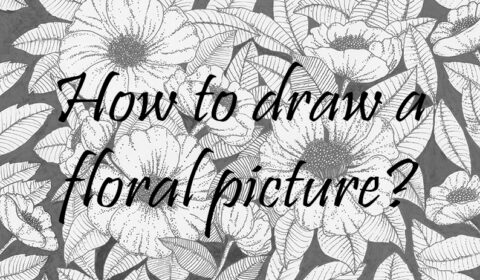 How to draw a floral b&w picture