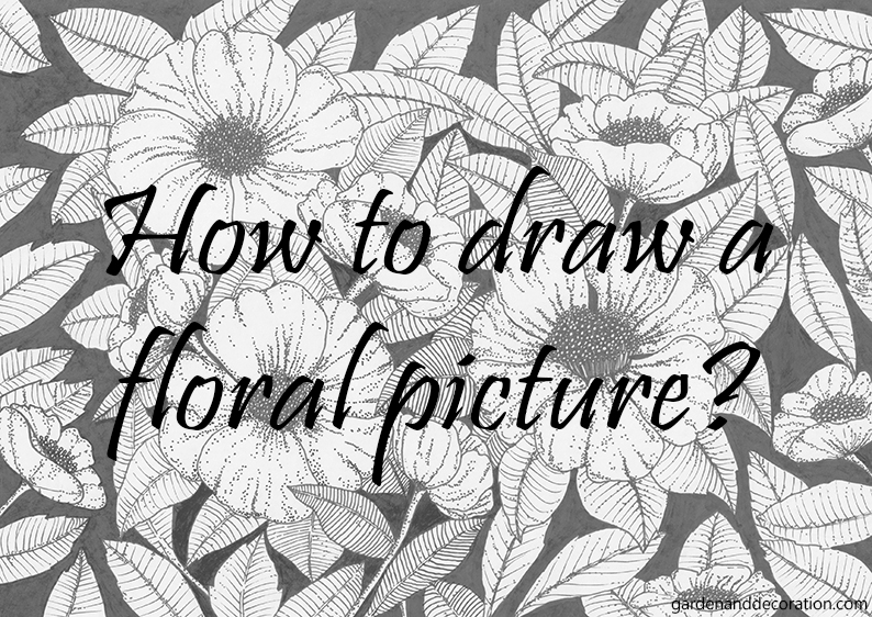 How to draw a floral picture