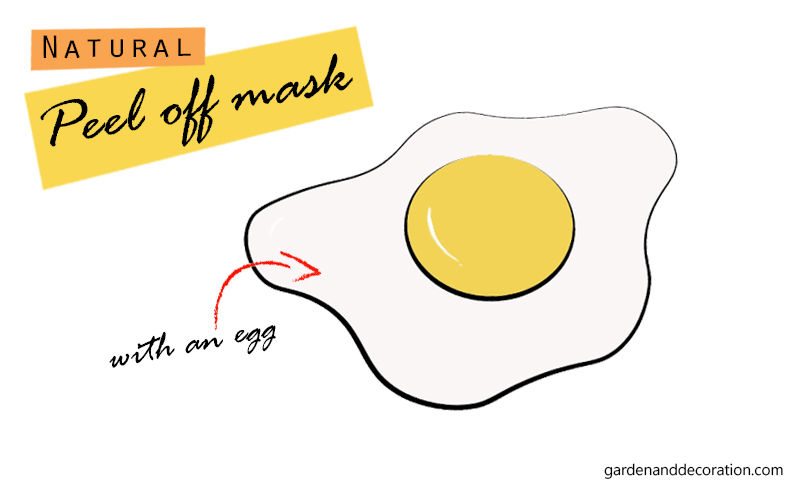 Natural peel off mask_egg_illustration by Maggy from gardenanddecoration.com