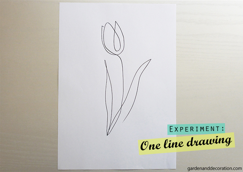 Drawn tulip with one line_by gardenanddecoration.com