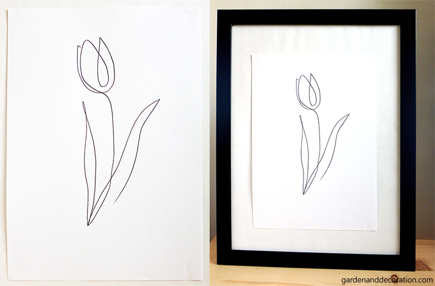 One-line-drawing-tulip
