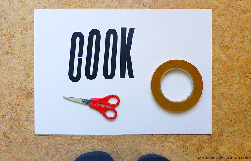 Cook wall decal_what you´ll need for the kitchen tiles wall decal