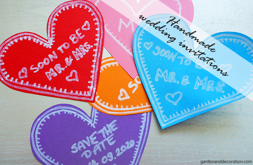 DIY: Paper heart wedding invitations