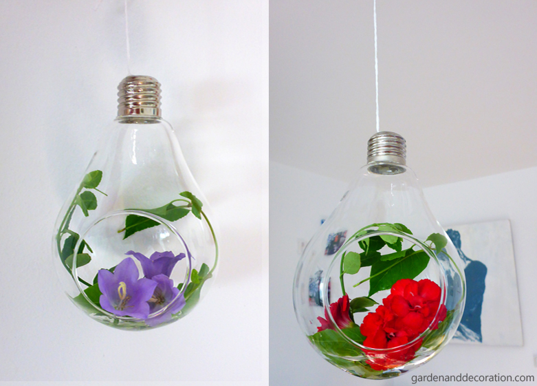 Summer flowers in a bulb