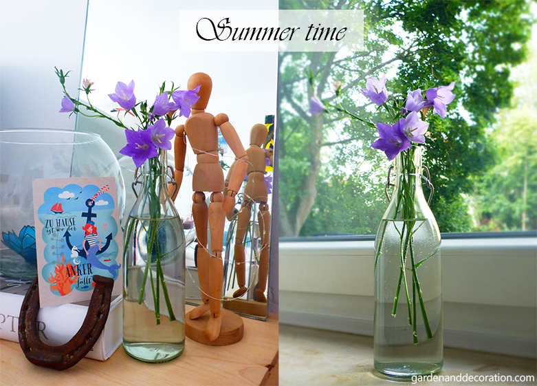 Summer flowers in your home